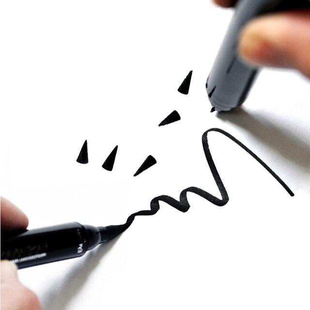 HANDAIYAN Dual-end Ultra Black Eyeliner Stamp Pen Long Lasting Waterproof Eye Liner Liquid Eye Pencil Cat Eye Smoky Make Up 4