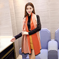Big Scarf 2016 Winter Womens Long Blanket Scarf Fashion Branded Ladies Striped Wrap Cashmere Pashmina Scarves