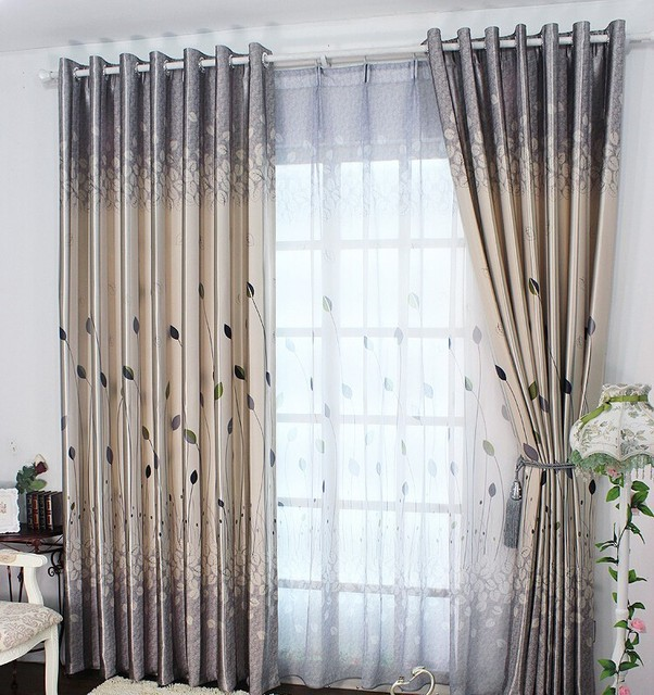 New Arrival Fashion Blinds Window Curtains For Living Room Blackout Treatment Drapes Home
