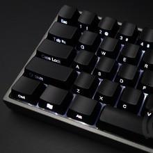 YMDK 104 87 61 ABS Side lit Side Backlit Black Keycap Set OEM Profile For MX Mechanical Keyboard