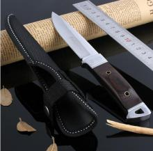 factory direct Hot Sell 7inch outdoor knife multifunction color wood small straight knife camping tool + Ninon cover