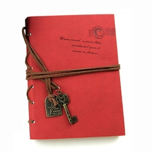цена Classic Retro  Leather Bound Blank Pages Journal Diary Notepad Notebook Coffee 143*105*20mm. онлайн в 2017 году