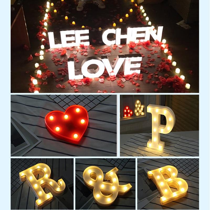 LED valgustid Pulmad Ystävänpäivä Confession ettepaneku abielu - Puhkusevalgustus - Foto 1
