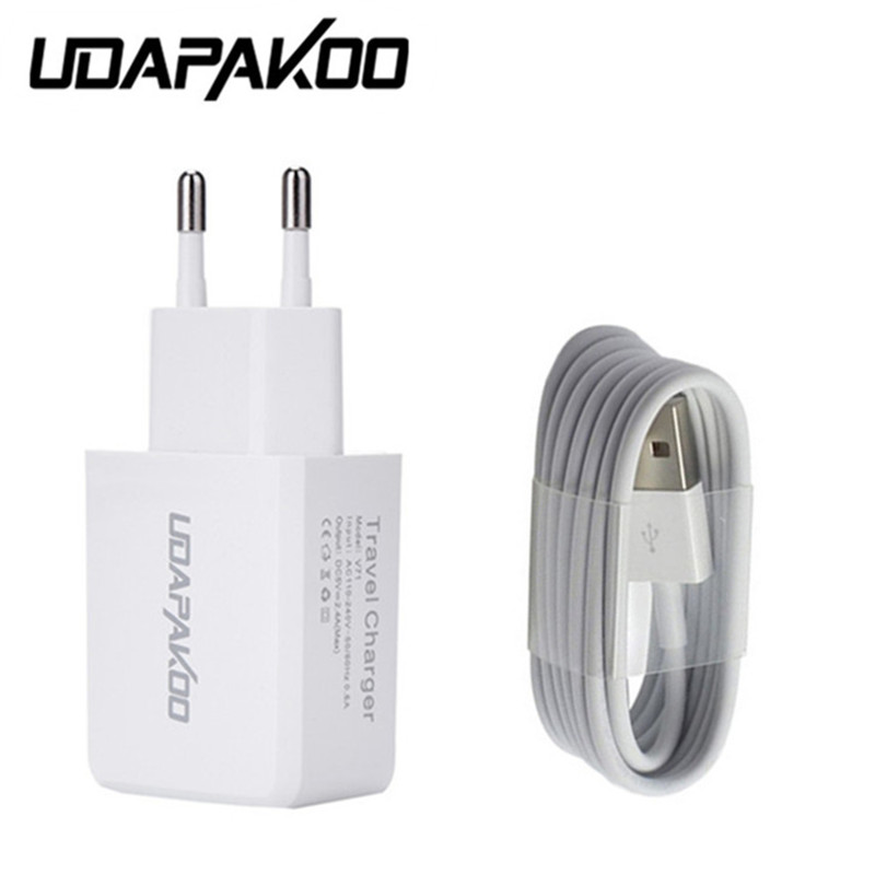 For iphone 6s 7 plus 5/5s/5c Power 2.4a EU/US Charger Adapter & 1M USB fast Charging Cha ...