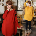 New Winter Maternity clothing Gery diamond check O-Neck base shirt plus size pregnant woman sweater pullovers  sweater coat