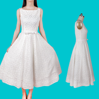 2015 New Audrey Hepburn Dress Vintage Retro Lace Ball Gown Vestidos Pin Up 50s 60s Vintage
