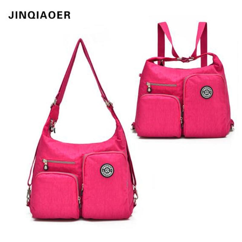 JINQIAOER Brand Nylon Bag Large Capacity Waterproof Handbag Female Casual Tote Fashion Women Shoulder Bag Crossbody
