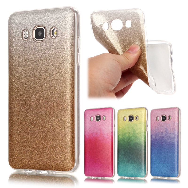 luxury glitter bling soft for coque samsung galaxy j5 2016 case silicone tpu gradient phone case