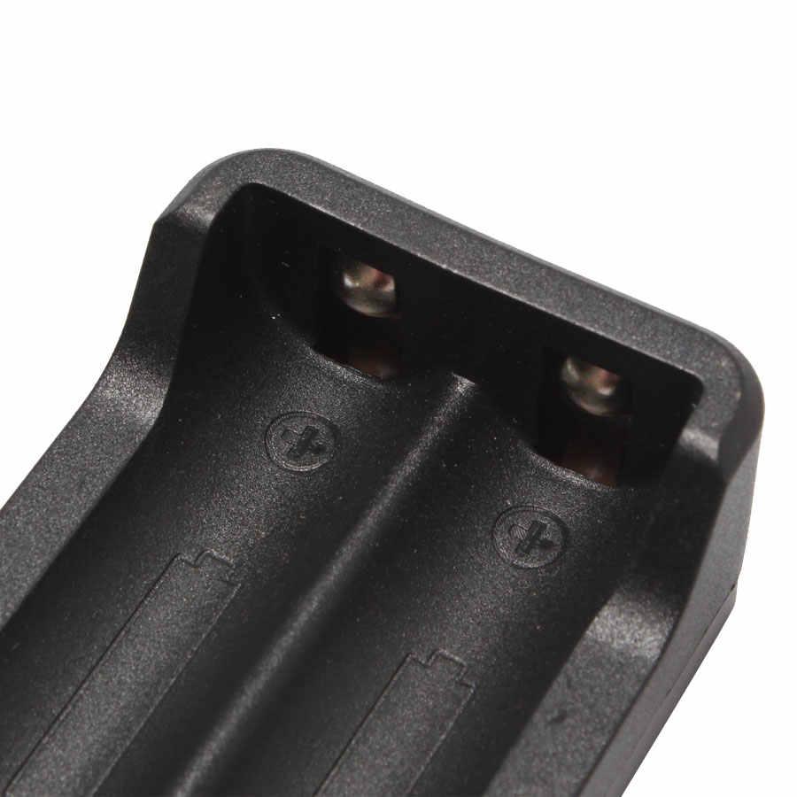 1 шт. дешевые двойной слот Зарядное устройство 110 V-240 V EU US вилка с 80 см для 2*18650 Перезаряжаемые литий Батарея для Фонарь налобный фонарь