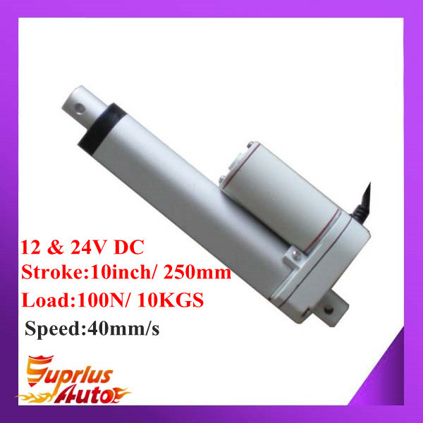цена на 40mm/s Speed ! 12V DC Linear Actuator With 10inch/ 250mm Stroke Length And 100N/ 10KGS Load
