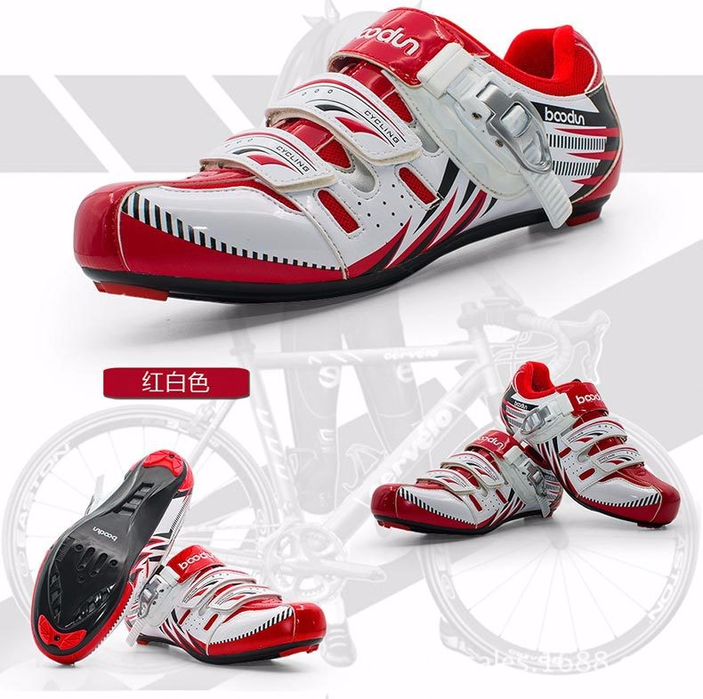 BOODUN new bike shoes male road bike mountain bike riding shoes breathable anti - skid lock shoes J040030 kelme 2016 new children sport running shoes football boots synthetic leather broken nail kids skid wearable shoes breathable 49