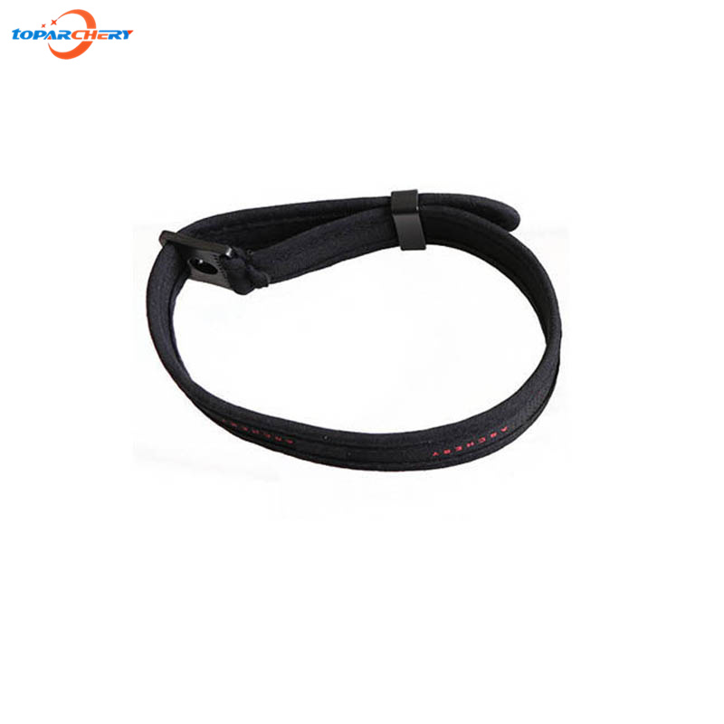 Black Adjustable Compound Bow Wrist Sling Strap for Archery Compound Bow Hunting Target Shooting Sports Accessories Wrist Cord