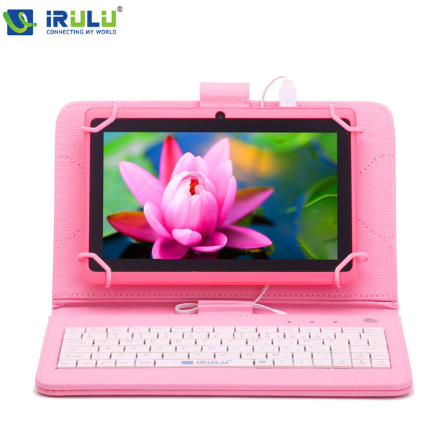 Irulu expro x1 7 ''allwinner quad core android 4.4 tablet Cámaras duales 8G apoyo ROM WiFi OTG Vendedor CALIENTE w/EN Teclado
