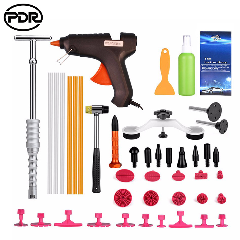 PDR Tools Paintless Dent Removal Car Kit Tools Auto Hail Repair Tool Set Dent Puller Pulling Bridge Suction Cups Glue Tabs цена