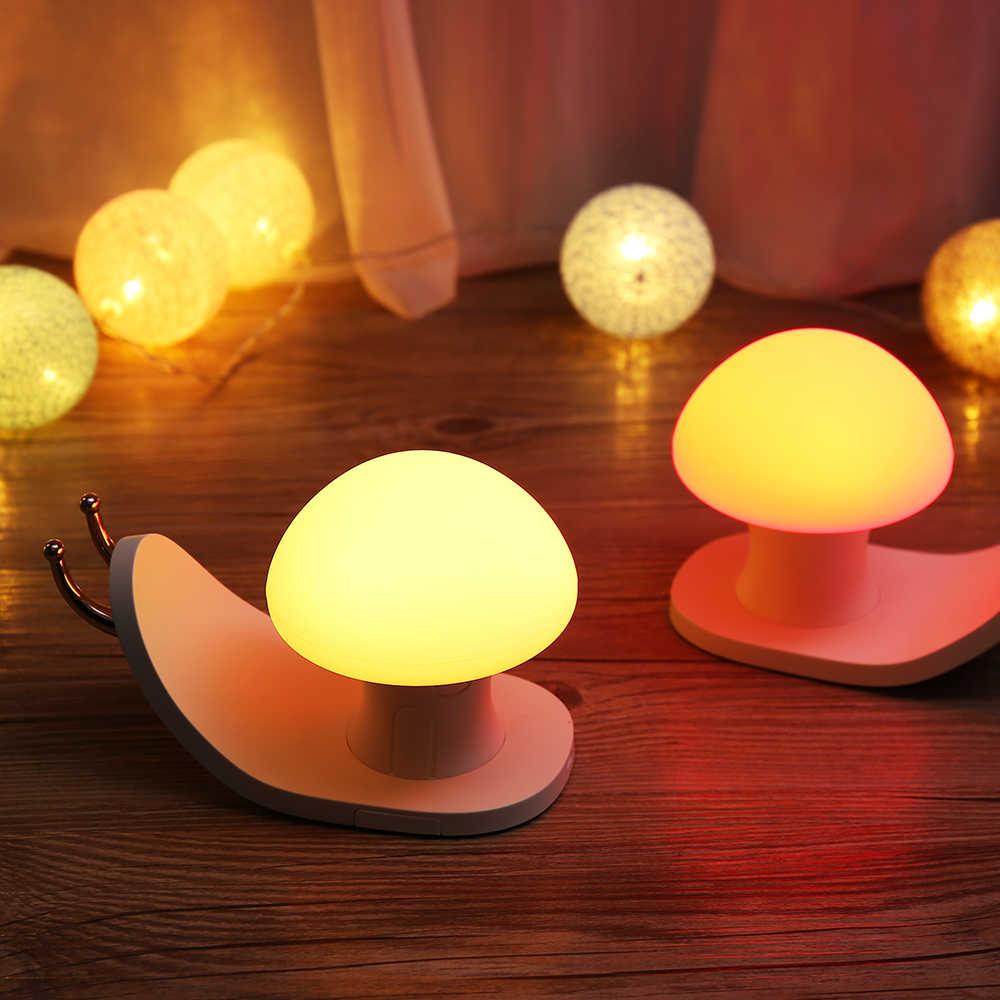 2019 Mới Nhất Sáng Tạo Sống Đèn Ngủ LED Sạc USB Trẻ Em Đầu Giường Để Bàn Nhiều Màu Sắc Khí Quyển Đèn Cô Gái Trẻ Em Quà Tặng
