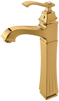 Free ship Bathroom Waterfall Basin Sink Faucet Single Hole deck mounted gold color Mixer Tap New crystal