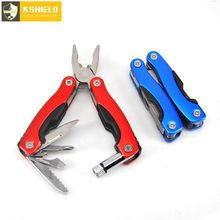 KSHIELD Mini Multitool Pocket Folding Pliers Cable Cutter Crimping Tool Multifunctional Survival Knife LED Flashlight Ailcate