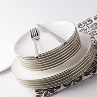 Brief On Glazed White Ceramic Bone China Steak Vegetables Plate Straight Cup Cafe Coffee Milk Mug