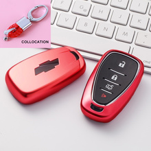 Multicolor Soft Environmentally friendly Tpu Car Key Cover case for Chevrolet Key  Remote Cover Chevy Camaro Cruze Malibu 2017 nan zi han leather car key fob cover case for chevrolet chevy 2016 2017 malibu 2018 cruze camaro key chain holder accessories