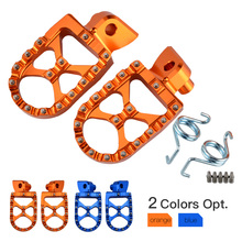цена на CNC 57mm Racing MX Foot Pegs Rests Pedals Footrest Flat Sharp Teeth Footpegs For KTM 50/65/85/125/250 SX 125-530 EXC/EXC-F Etc