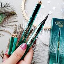 LISM Waterproof Eyeliner Pencil Peacock Opening print Smudge-Proof Eye makeup lasting Cosmetic  Makeup Liquid
