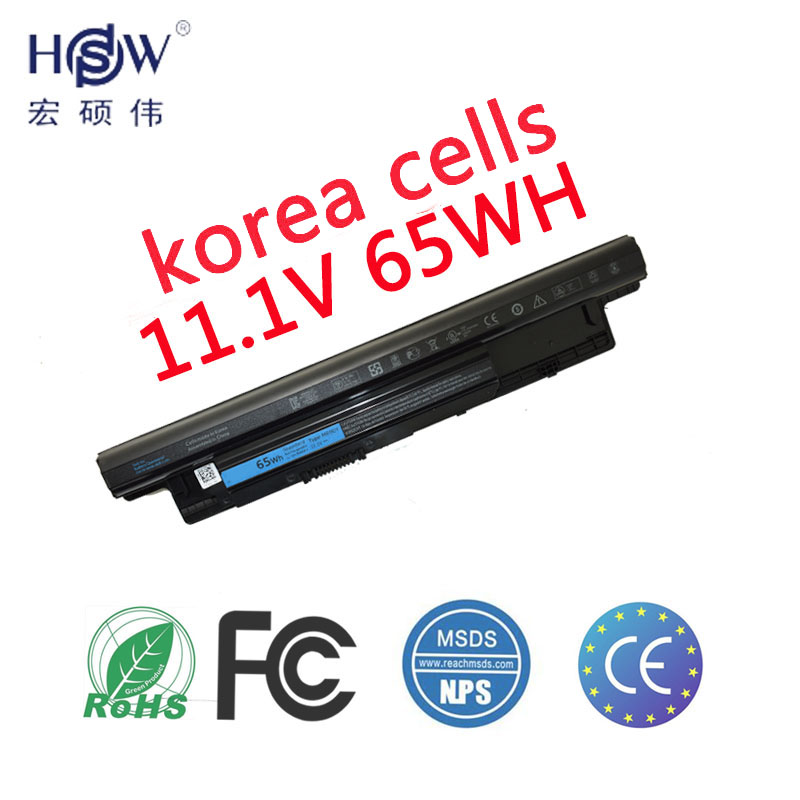 HSW Laptop Battery For Dell Inspiron 17R 5721 3721 15R 5521 15 3521 14R 5421 14 3421 MR90Y VR7HM W6XNM VOSTRO 2521 2421 battery