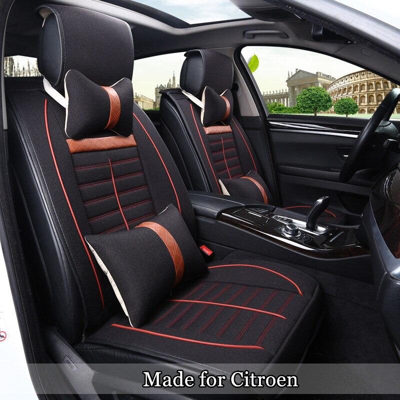 cotton linen seat cover for citroen c4 sega aircross elysee grand picasso c3xr c4l c3 c5 c6 5. Black Bedroom Furniture Sets. Home Design Ideas