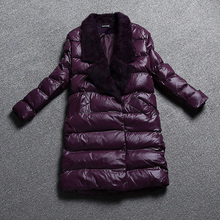 Hot Sale Women Down Jacket Abrigos Mujer Winter Jacket Long Warm Down Coat Female Clothing Fur Collar Coats Winterjas Dames