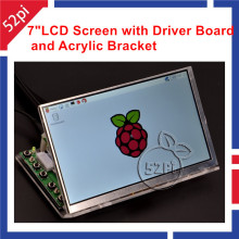 Big sale 52Pi Raspberry Pi 7 inch 1024*600 LCD Display Monitor Screen with Driver Board ( HDMI VGA 2AV ) & Transparent Acrylic Bracket