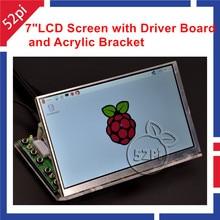 Raspberry PI 7 zoll LCD 1024*600 Panel Digitale Lcd-bildschirm und Stick Board (HDMI + VGA + 2AV) + Transparente Plexiglas Halterung