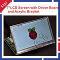Raspberry PI 7 polegada Tela de LCD 1024*600 Painel Digital LCD e Placa de Carro (HDMI + VGA + 2AV) + Suporte Acrílico Transparente transparente