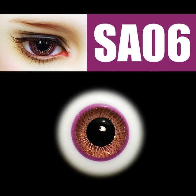 new 16mm pink Iris/&Black pupil glass BJD eyes for Reborn//newborn BJD Doll