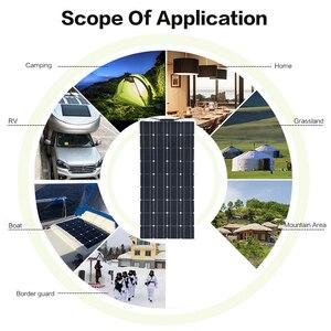 Image 5 - 2 個 4 個 3 個ソーラーパネル 100 ワット単結晶太陽電池のための柔軟な車/ヨット/汽船 12V 24 ボルト 100 ワット太陽電池