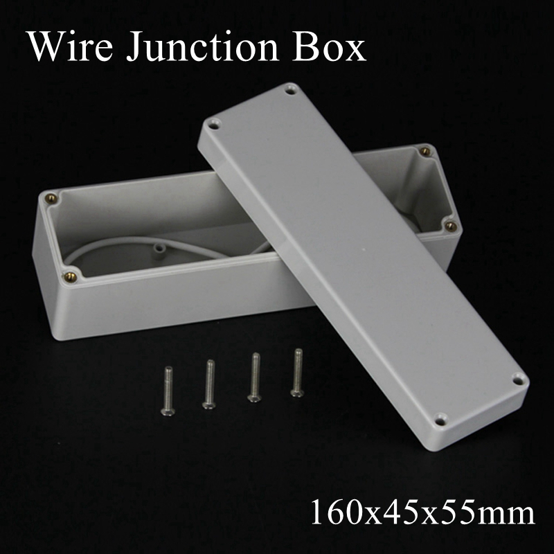160x45x55mm Junction Electronic Waterproof Project Shell ABS Box Enclose IP65 160*45*55mm