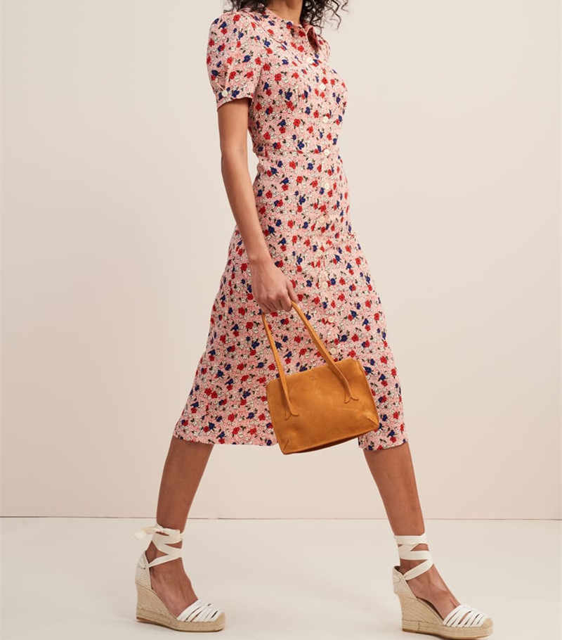 f7c5449cf83db Detail Feedback Questions about 2019 New Women Green Flower Print ...