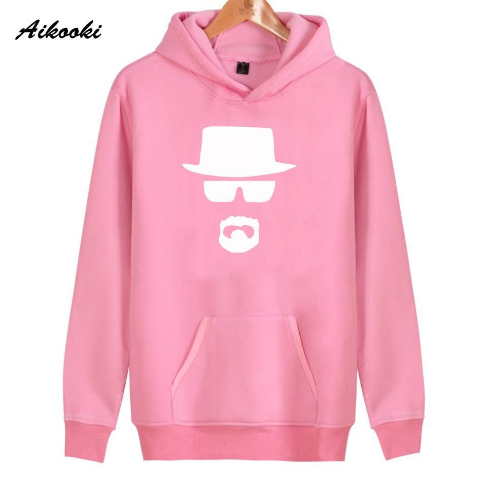 2018 Aikooki Heisenberg Hoodies Women/Men Harajuku High Quality Cotton Heisenberg Womens Hoodies and Sweatshirt Warm Clothes