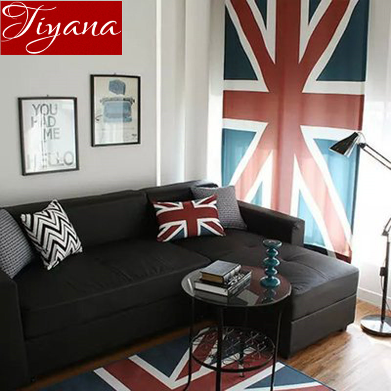 Modern Simple Upscale British Flag Curtains Window Screen Cloth For Living  Room Kitchen Curtains Cloth Blinds Part 61