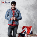 JOOBOX 2017 new men denim Jacket hooded trench coat men Plus Velvet Jeans Jackets Washed men overcoat Plus Size winter coat(4G6)