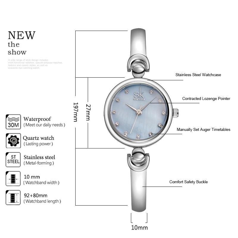 Shengke Reloj Mujer Fashion Armband Armbandsur Märke Kvinnlig Geneva - Damklockor - Foto 3