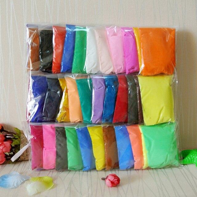 aliexpress com buy slime 36 colors playdough light soft polymer