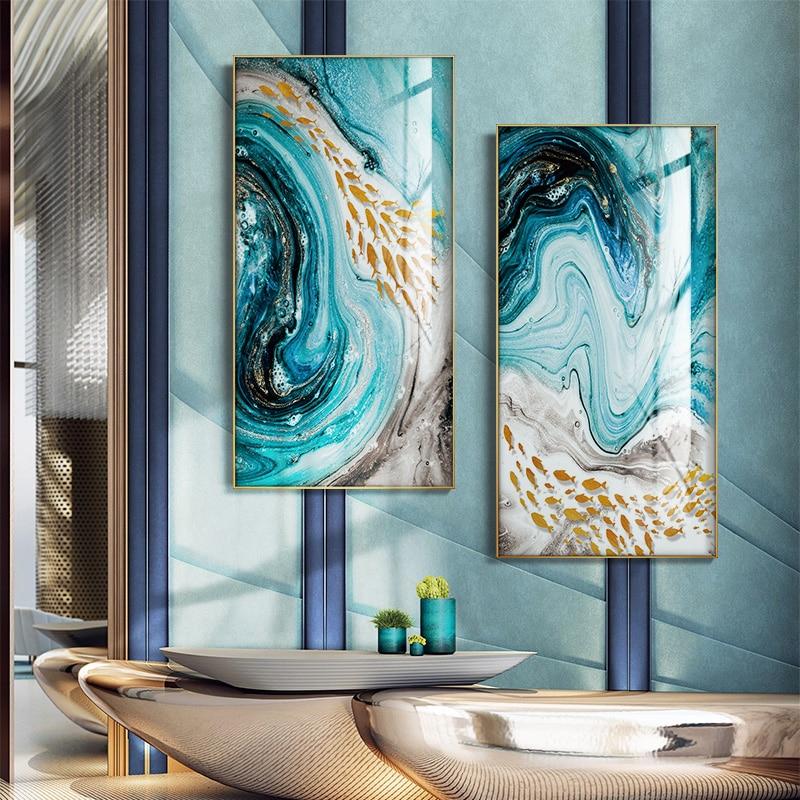 Póster abstracto e impresión de lienzo para sala de estar, Cuadros decorativos, pinturas decorativas, arte de pared moderno, pintura grande para el hogar sin marco