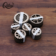 QITAI 72Pieces/lot 6 Gears of Different Sizes Wood Craft Great Gifts F