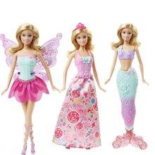 Оригинальная кукла Барби, игрушка Барби, Сказочная Русалка, наряд, игрушки на день рождения, подарочный набор DHC39, Подарочные игрушки для дев...