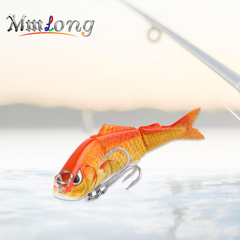 Mmlong Small Fishing Lure Jointed Sections Bait SAL03A-1 6.3cm Fish Treble Hooks Fishing Tackle Artificial Wobbler Crankbaits