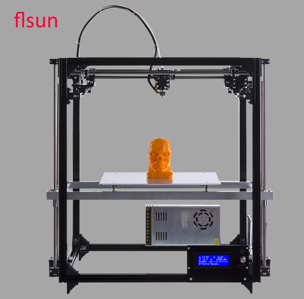 2017 New Large Printing Size 3d Printer Kit Metal Frame Printer 3D For Sale With Two