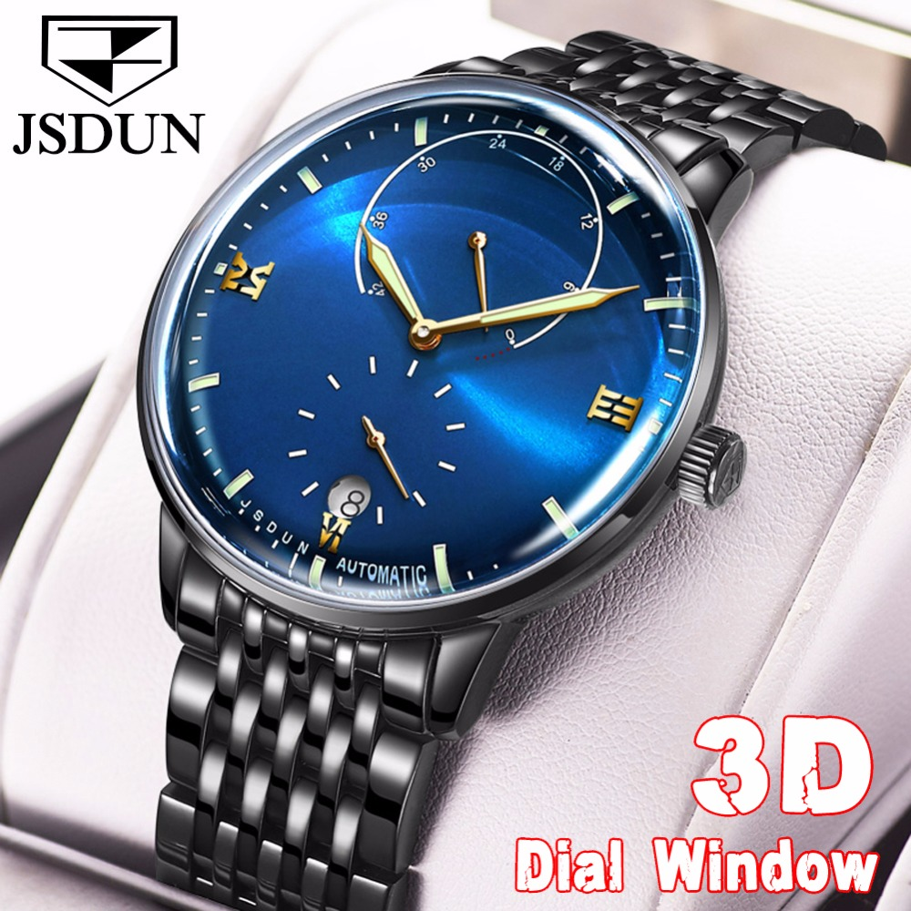 2018 JSDUN Mens watches top brand luxury Automatic Watch men sapphire crystal Casual waterproof Steel Mechanical Wrist watch Men2018 JSDUN Mens watches top brand luxury Automatic Watch men sapphire crystal Casual waterproof Steel Mechanical Wrist watch Men
