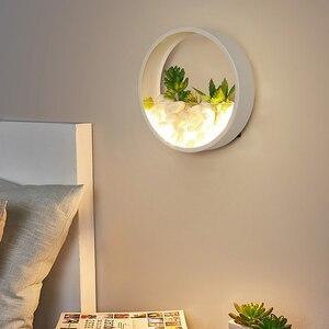 Image 3 - 北欧植物壁ライト創造ベッドサイドの寝室のランプの結婚式ルーム階段リビングルームシンプルでモダンな通路壁ランプ