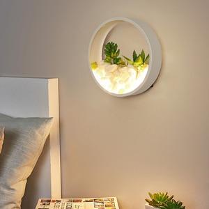Image 3 - Nordic Plant Wandlampen Creatieve Nachtkastje Slaapkamer Lamp Trouwzaal Trap Woonkamer Eenvoudige Moderne Gangpad Wandlamp