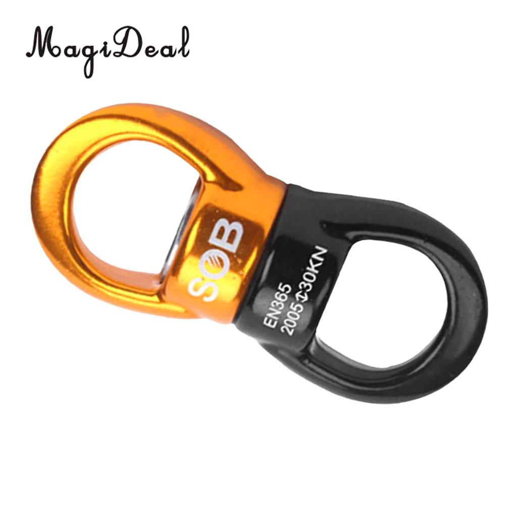 Magideal 2pcs 35kn Alloy Rotational Device Safety Rope