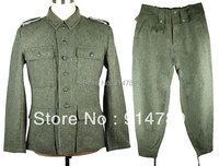 WWII GERMAN M43 WH EM SOLDIER FIELD GREY WOOL UNIFORM JACKET AND TROUSERS IN SIZES 33101